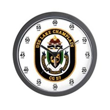 USS Lake Champlain CG-57 Navy Time Wall Clock