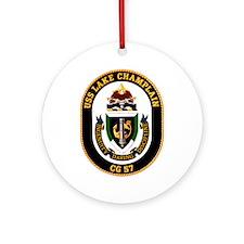 Uss Lake Champlain Cg-57 Ornament (round)