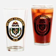USS Lake Champlain CG-57 Drinking Glass