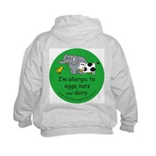 Eggs, nuts & dairy Hoodie with back design