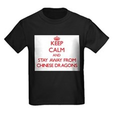 Keep calm and stay away from Chinese dragons T-Shi