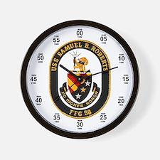 USS Samuel B. Roberts Navy Time Wall Clock