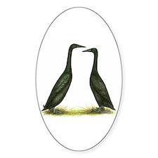 Black Runner Ducks Oval Decal