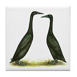 Black Runner Ducks Tile Coaster
