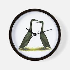 Black Runner Ducks Wall Clock