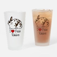 Cute Polish rabbit Drinking Glass