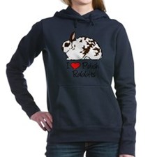 Funny Bunny rabbit Women's Hooded Sweatshirt