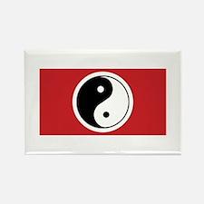 Yin Yang Flag Rectangle Magnet