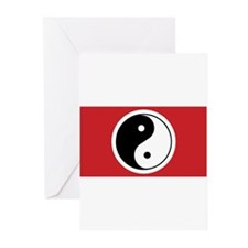 Yin Yang Flag Greeting Cards (Pk of 10)
