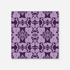 Ornate Purple And Lavender Floral Sticker