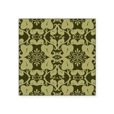 Ornate Yellow And Green Floral Sticker