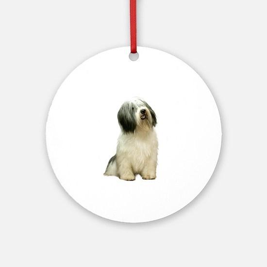 Polish Lowland Sheepdog 1 Ornament (Round)