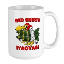 Red Shirts Iyaoyas Large Mugs