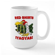Red Shirts Iyaoyas Large Mugs