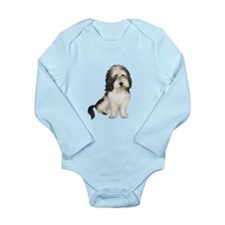 Petit Basset (brn-W) Long Sleeve Infant Bodysuit