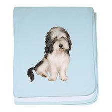 Petit Basset (brn-W) baby blanket