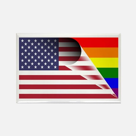 USA Gay Pride Magnet