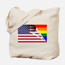 Flag Of U.S.A. Gay Pride Rainbow Tote Bag