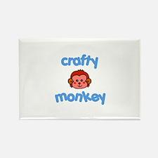 Crafts - Crafty Monkey Rectangle Magnet