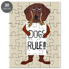 Dachshund Dogs Rule Puzzle