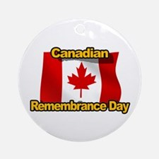 Canadian Remembrance Day Ornament (Round)