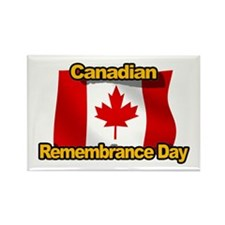 Canadian Remembrance Day Rectangle Magnet