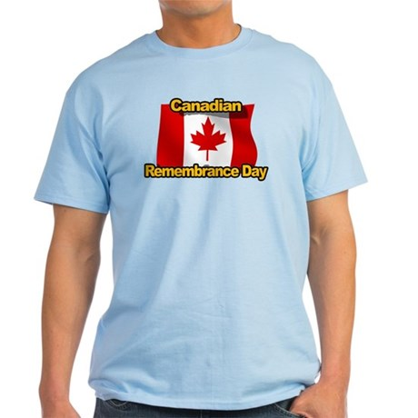 Canadian Remembrance Day Light T-Shirt