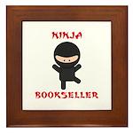 Ninja Bookseller Framed Tile