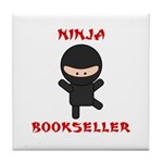 Ninja Bookseller Tile Coaster