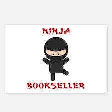 Ninja Bookseller Postcards (Package of 8)