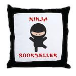 Ninja Bookseller Throw Pillow