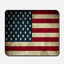 USA Flag - Grunge Mousepad