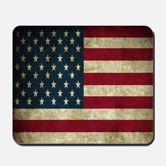 USA Flag - Grunge Mousepad