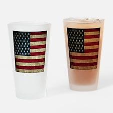USA Flag - Grunge Drinking Glass