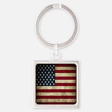 USA Flag - Grunge Keychains