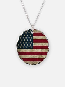USA Flag - Grunge Necklace