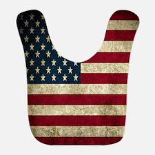 USA Flag - Grunge Bib