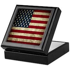 USA Flag - Grunge Keepsake Box