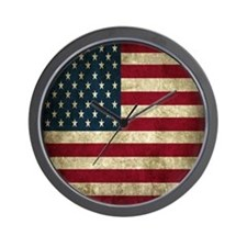 USA Flag - Grunge Wall Clock