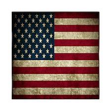 USA Flag - Grunge Queen Duvet