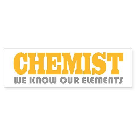 Funny Chemist Bumper Sticker