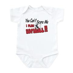 Play Softball - No Fear Infant Bodysuit