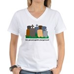 Playground Women's V-Neck T-Shirt
