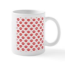 Red Lips Pattern Mugs