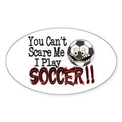 Soccer - No Fear Oval Decal