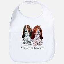 Basset Hound Brace Bib