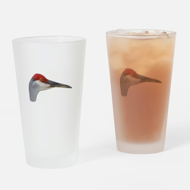 Cute Sand hill crane Drinking Glass