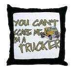 No Fear Trucker Throw Pillow