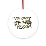 No Fear Trucker Ornament (Round)