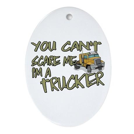 No Fear Trucker Oval Ornament